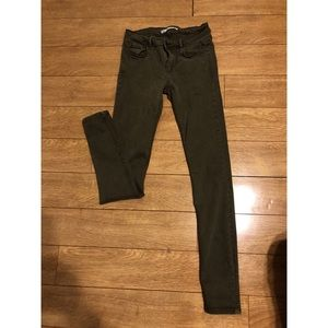 zara greenish jeans